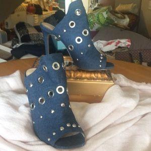 Steve madden high heel Jean Hi heels with silver